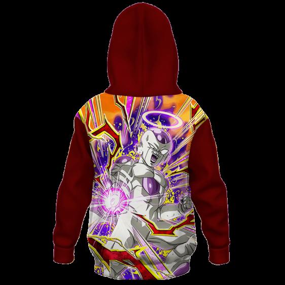 Dragon Ball Z White Frieza Comic Style Kids Hoodie - back