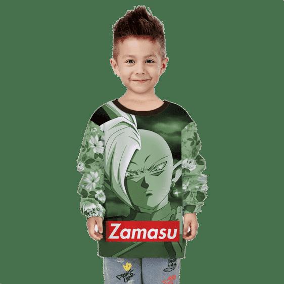 Dragon Ball Zamasu Floral Supreme Cool Green Kids Sweatshirt