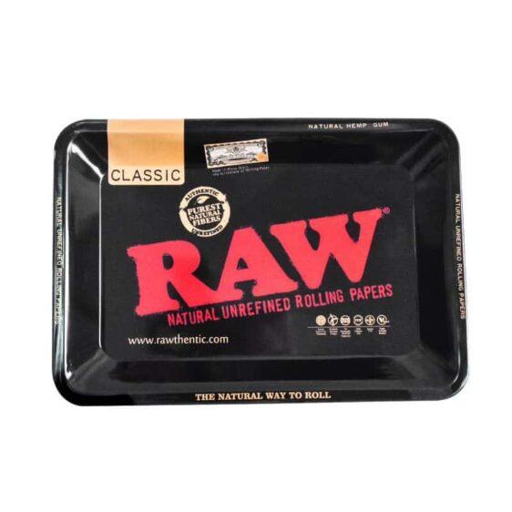 Essential Black Raw-thenthic Hemp Cannabis Rolling Tray