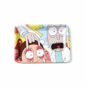 Eyes on the Weeds High Rick and Morty Blunt Rolling Tray