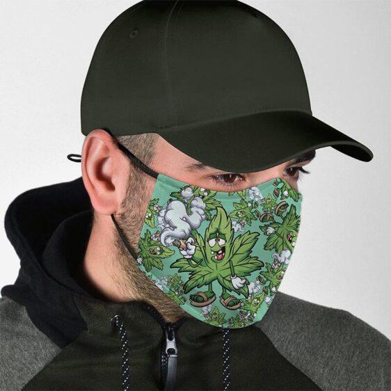 420 Marijuana Smoking Awesome Cannabis Leaf Face Mask