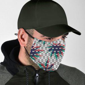 Marijuana Colorful Leaf Gucci Pattern Inspired Face Mask