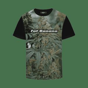 Fat Banana Strain Cool Real Strain Close Up Portrait T-Shirt