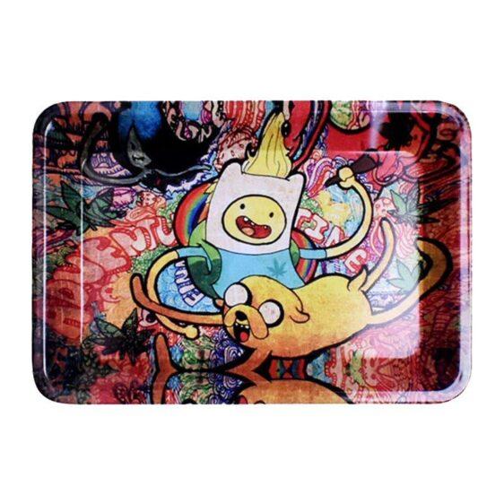 Fin & Jake Psychedelic 420 trip Marijuana Herb Rolling Tray