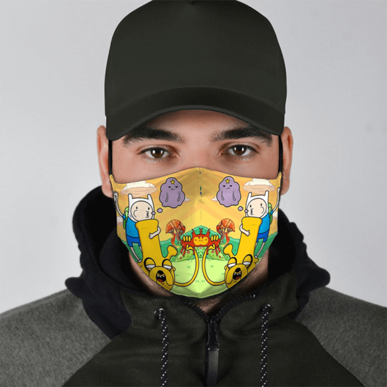 Fin the Human & Jake the Bong Smoking a Bag of Weed 420 Marijuana Dust Mask