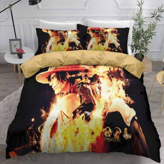 Fire Fist Portgas D. Ace Whitebeard Symbol Bedding Set