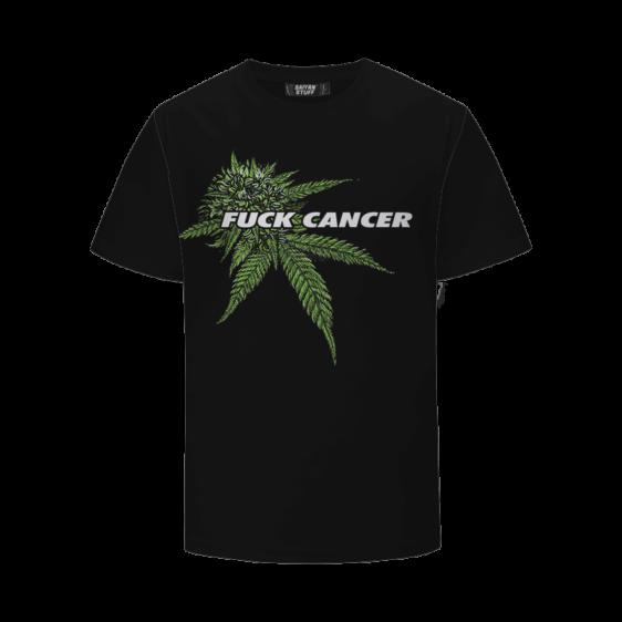 Fuck Cancer Herb Can Change The World 420 Marijuana T-Shirt