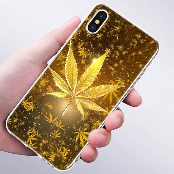Golden Marijuana Leaf IPhone 11 (Pro & Pro Max) Cases