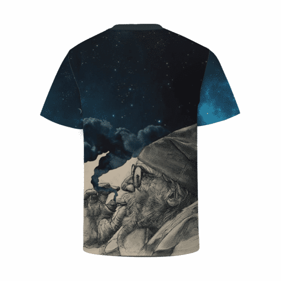 Grandpa Smokes Out The Galaxy Cannabis Themed T-Shirt