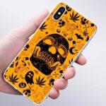Halloween Cartoon and Marijuana Skull IPhone 11 (Pro & Pro Max) Cases