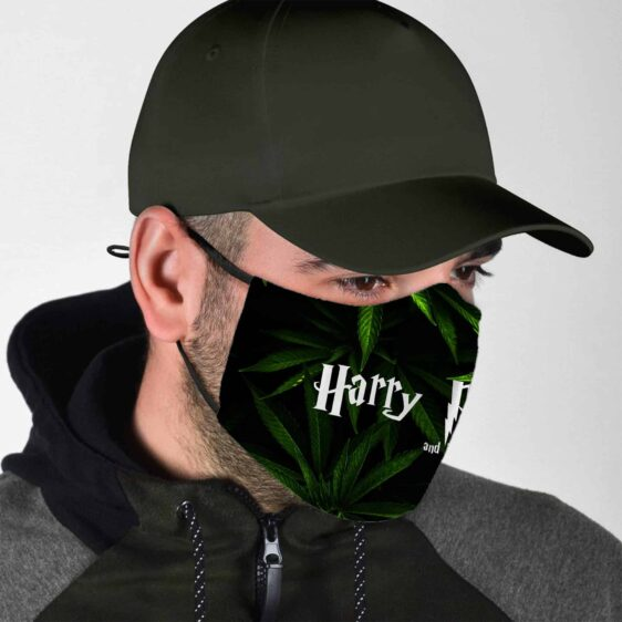 Harry Pothead And The Sorcerers Stoned Cannabis Face Mask