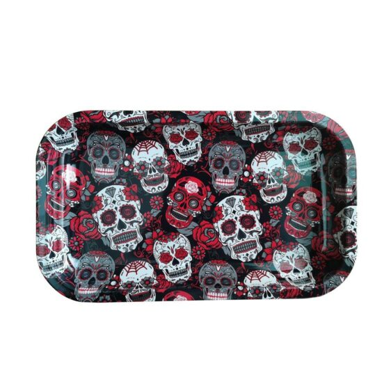 Hippie Skulls and Roses Cannabis Joint Rolling Tray