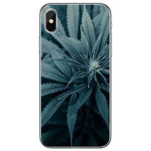 Indica Minimalist Marijuana leaf IPhone 11 (Pro &Pro Max) Cases