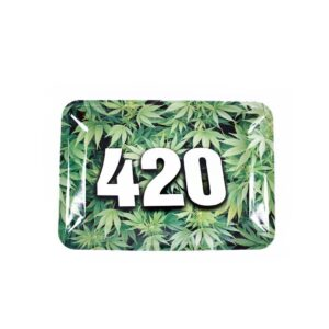 Its Four Twenty O'clock Marijuana Herb Rolling Tray