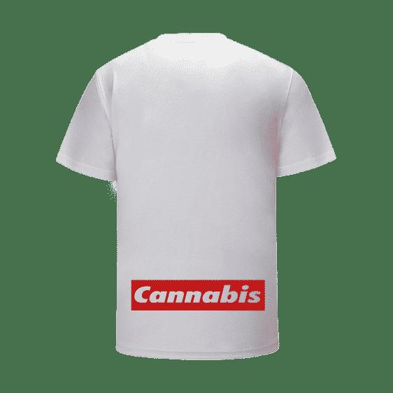 Kush Flower Bud Monochrome Portrait Supreme Parody T-Shirt