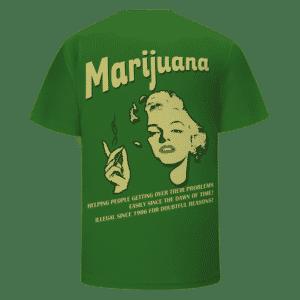 Legalize Marijuana Marilyn Monroe Smoking Dope 420 T-shirt