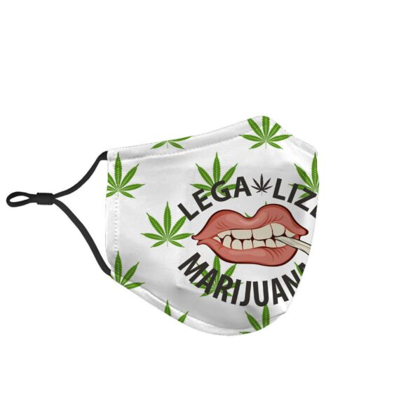 Legalize Marijuana Mouth Smoking Joint Face Mask