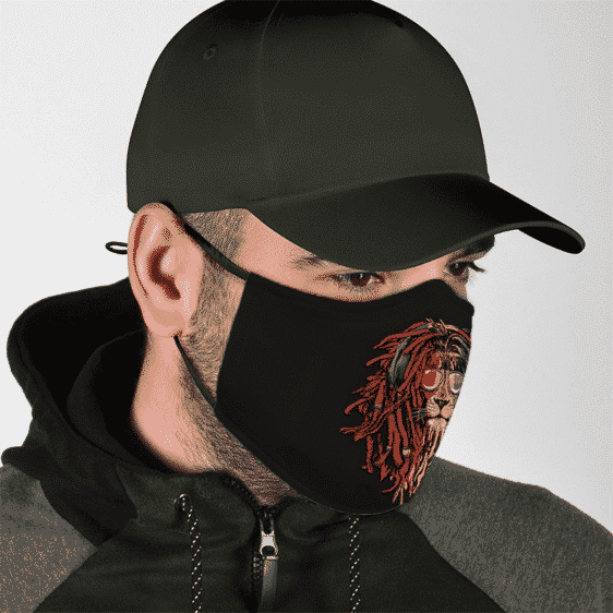 Lion Reggae Dreadlocks Marijuana Stoner Dope Face Mask