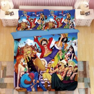 Luffy And Straw Hat Pirate Crews Victorious Scene Bedding Set
