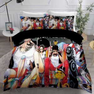 Luffy Nico Robin Brook & Franky Vices Fan Art Bedding Set