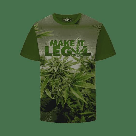 Make It Legal Marijuana Lifestyle Green 420 T-Shirt