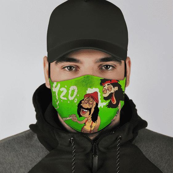 Marijuana Cheech And Chong Smoking 420 Green High Face Mask