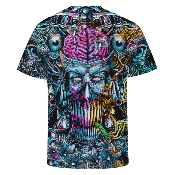 Marijuana Demon Smoking Joint Dark Themed Art Awesome T-shirt