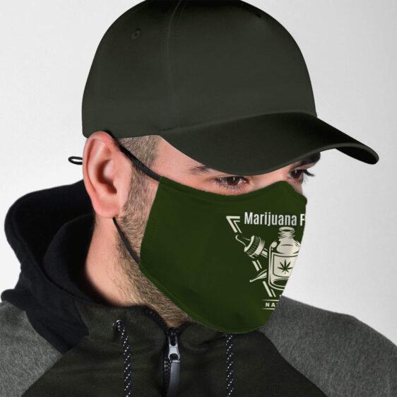Marijuana Fields One Hundred Percent Natural Face Mask