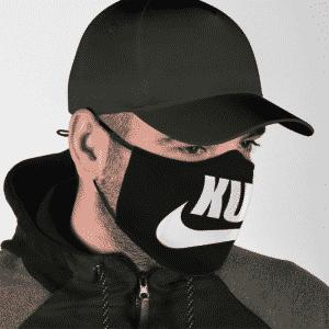 Marijuana Kush Weed Nike Logo Just Do It Black Cool Face Mask
