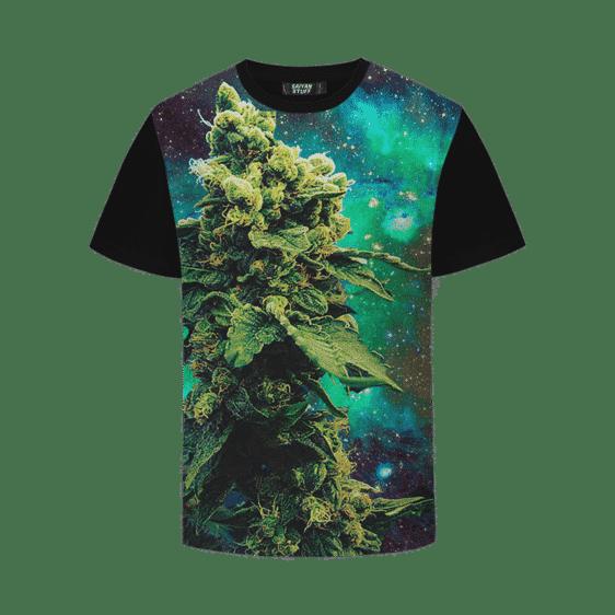 Marijuana Nuggets Kush Cannabis Indica Galaxy Black T-shirt