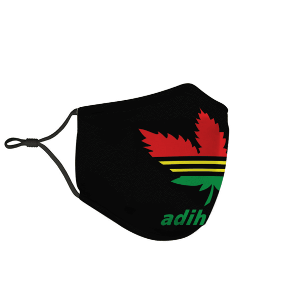 Marijuana Reggae Adidas Logo Adihash Weed Red Yellow Green Dope Face Mask