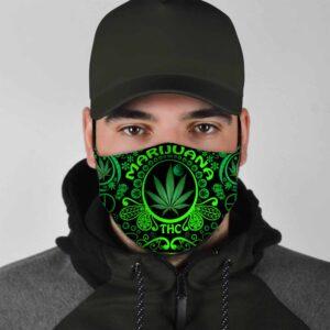 Marijuana THC Moonlime Pattern Face Mask