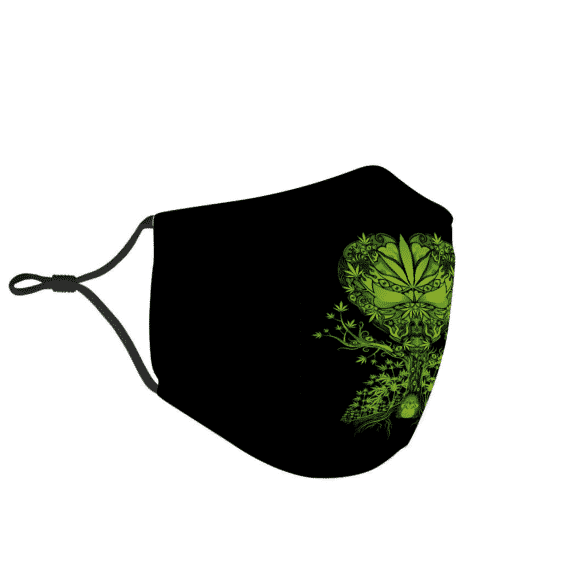 Marijuana Vector Art Cool Green Tree Weed Face Mask