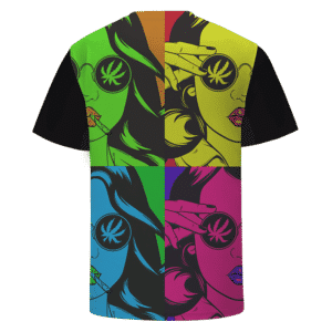 Mary Jane Salute Retro Trippy Weed 420 Marijuana T-Shirt