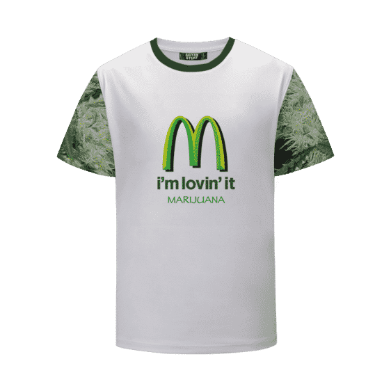 420 Mc Donalds Im Lovin it Parody Marijuana T-Shirt