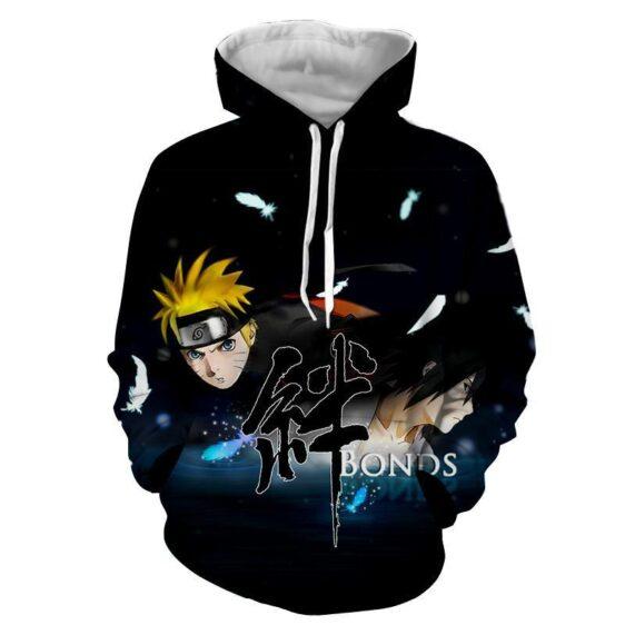 Naruto Shippuden Sasuke Bond Friendship Cool Winter Hoodie