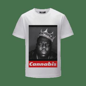 OG Biggie Crown Portrait Supreme Parody White 420 T-Shirt