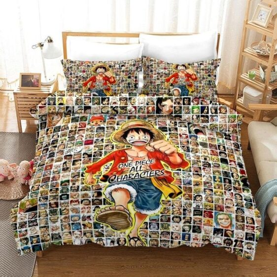 One Piece All Characters Tile Image Design Bedding Set