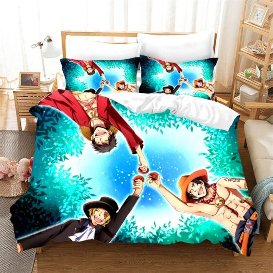 One Piece Bond Of Brothers Ace Sabo And Luffy Bedding Set
