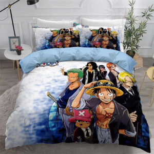 One Piece Cool Dressed Up Straw Hat Crews Bedding Set
