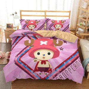 One Piece Cotton Candy Lover Chopper Pink Bedding Set
