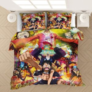 One Piece Film Gold Straw Hat Pirates Bedding Set