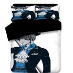 One Piece Handsome Sabo Blue Suit Fan Art Bedding Set