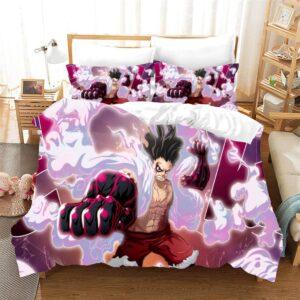 One Piece Monkey D. Luffy Gear Fourth Snakeman Bedding Set