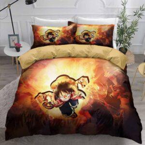 One Piece Monkey D. Luffy Raging Fierce Attack Bedding Set