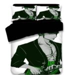 One Piece Pirate Hunter Swordsman Roronoa Zoro Bedding Set