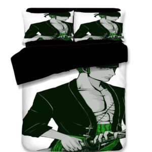 One Piece Pirate Hunter Swordsman Roronoa Zoro Bedding Set