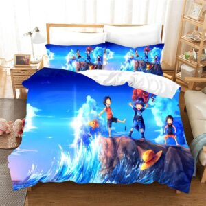 One Piece Playful Young Ace Sabo And Luffy Beach Bedding Set
