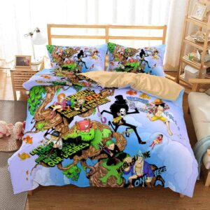 One Piece Straw Hat Pirate Quotations Fan Art Bedding Set