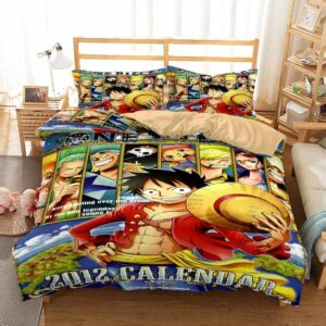 One Piece Straw Hat Pirates 2012 Calendar Bedding Set